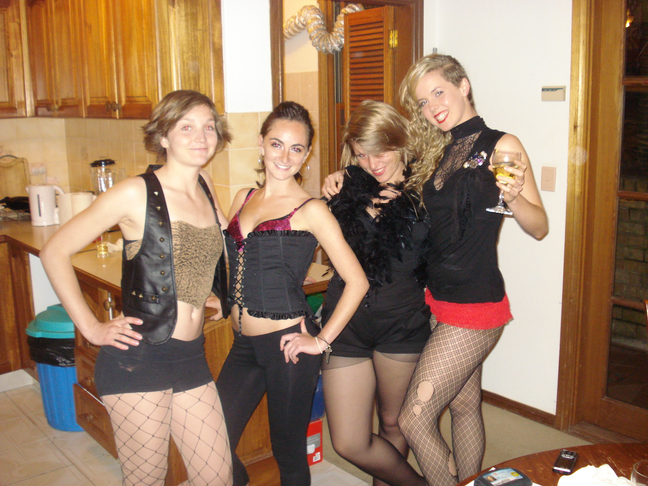 Rocky Horror Picture Show with the roommates