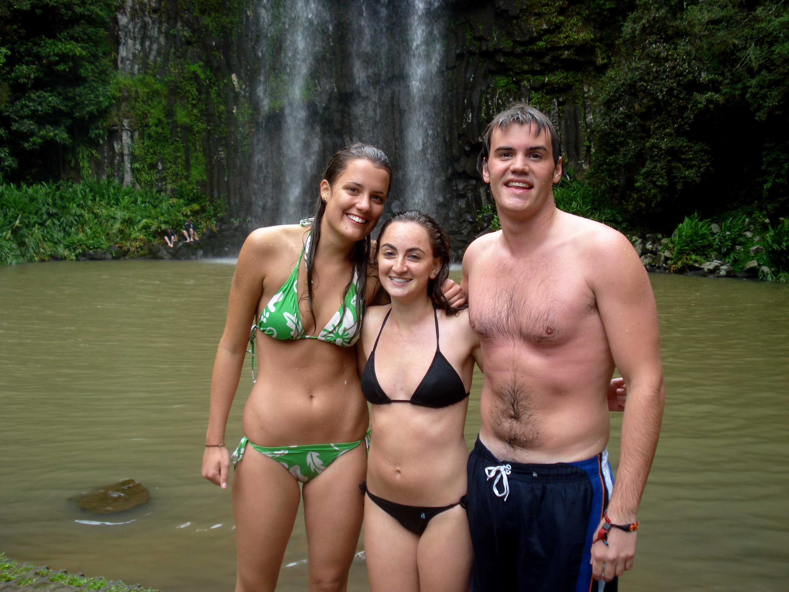 Swimming in waterfalls in Cairns