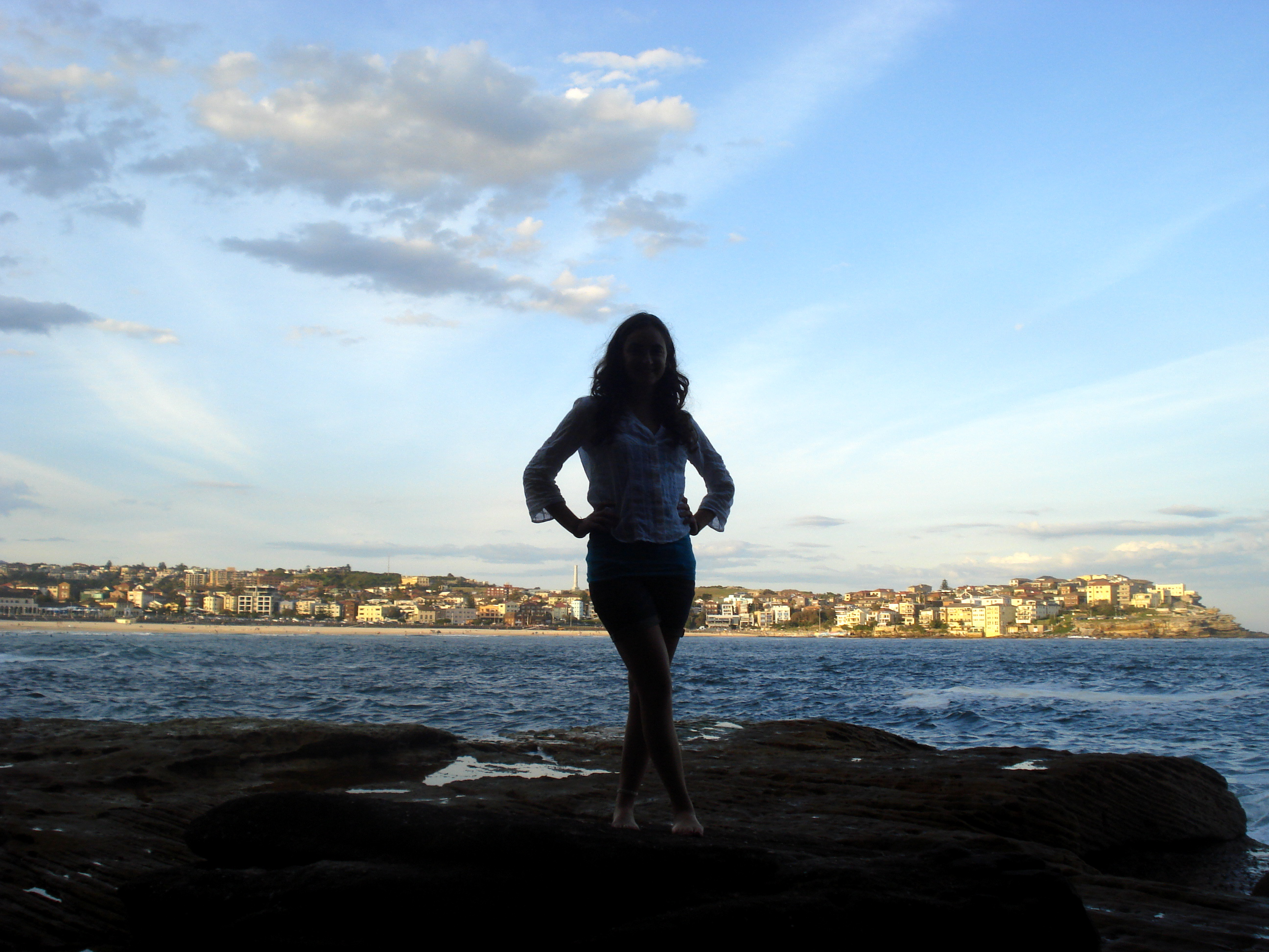 View of Bondi from cliffs