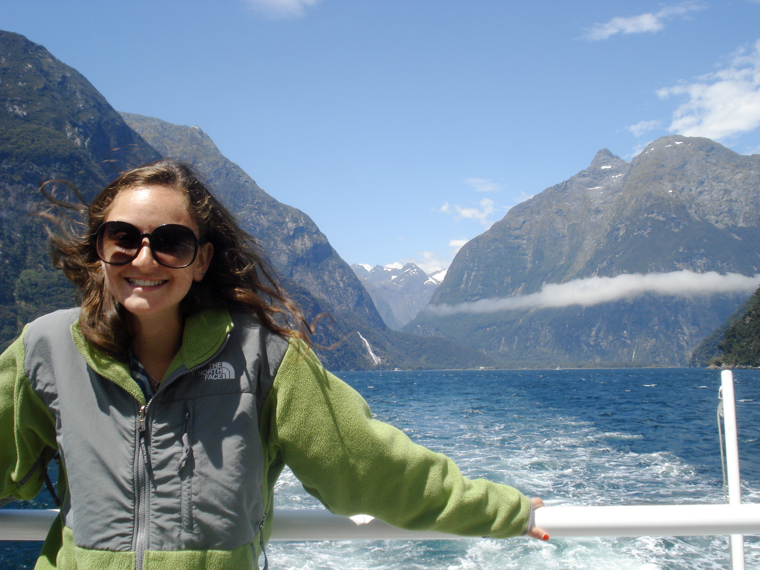 In Milford Sound in New Zealand