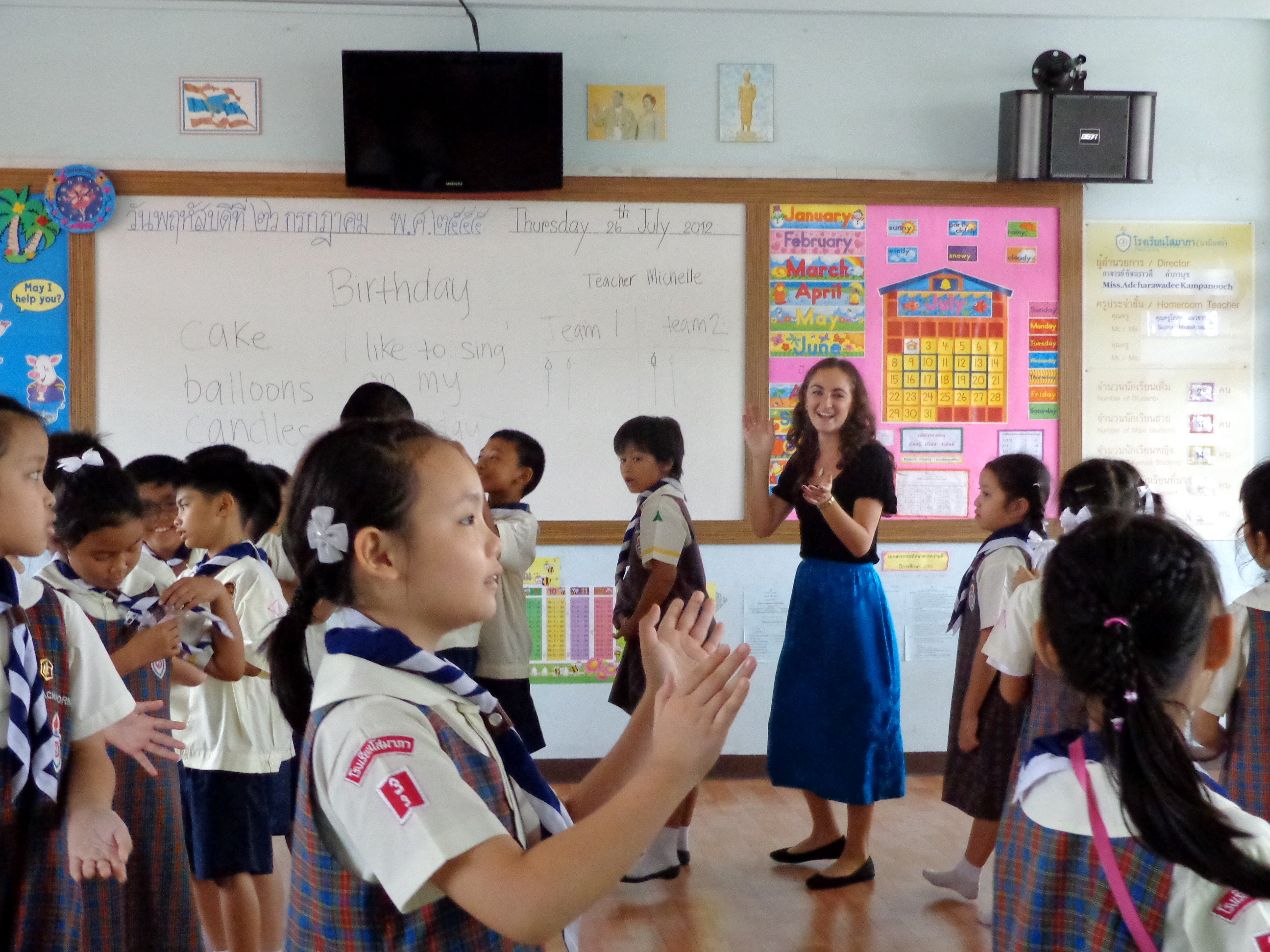 Practicing teaching with ATI Special Thai Project