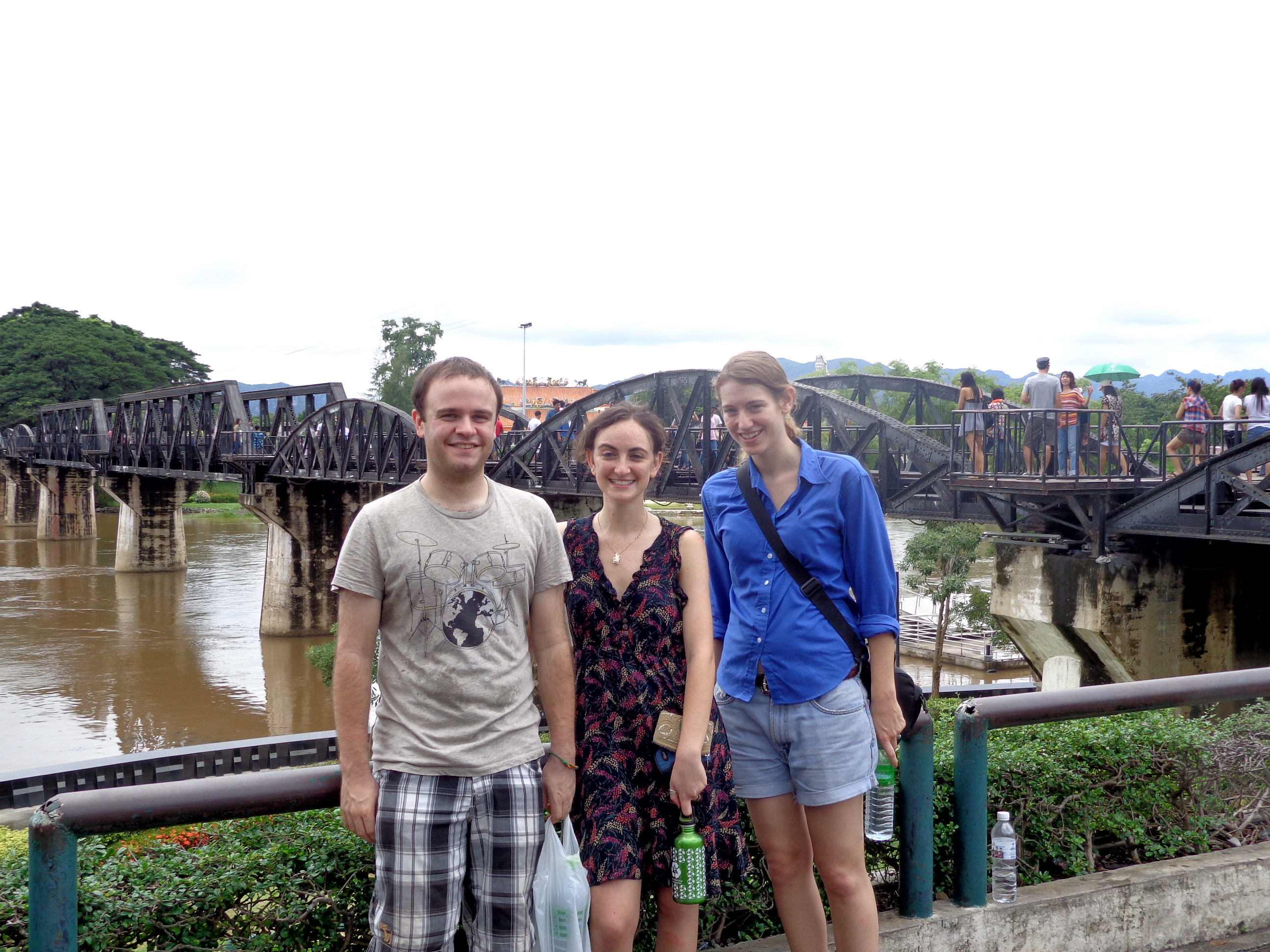 Hanging out at the Bridge on the River Kwai in Kanchanaburi, Thailand
