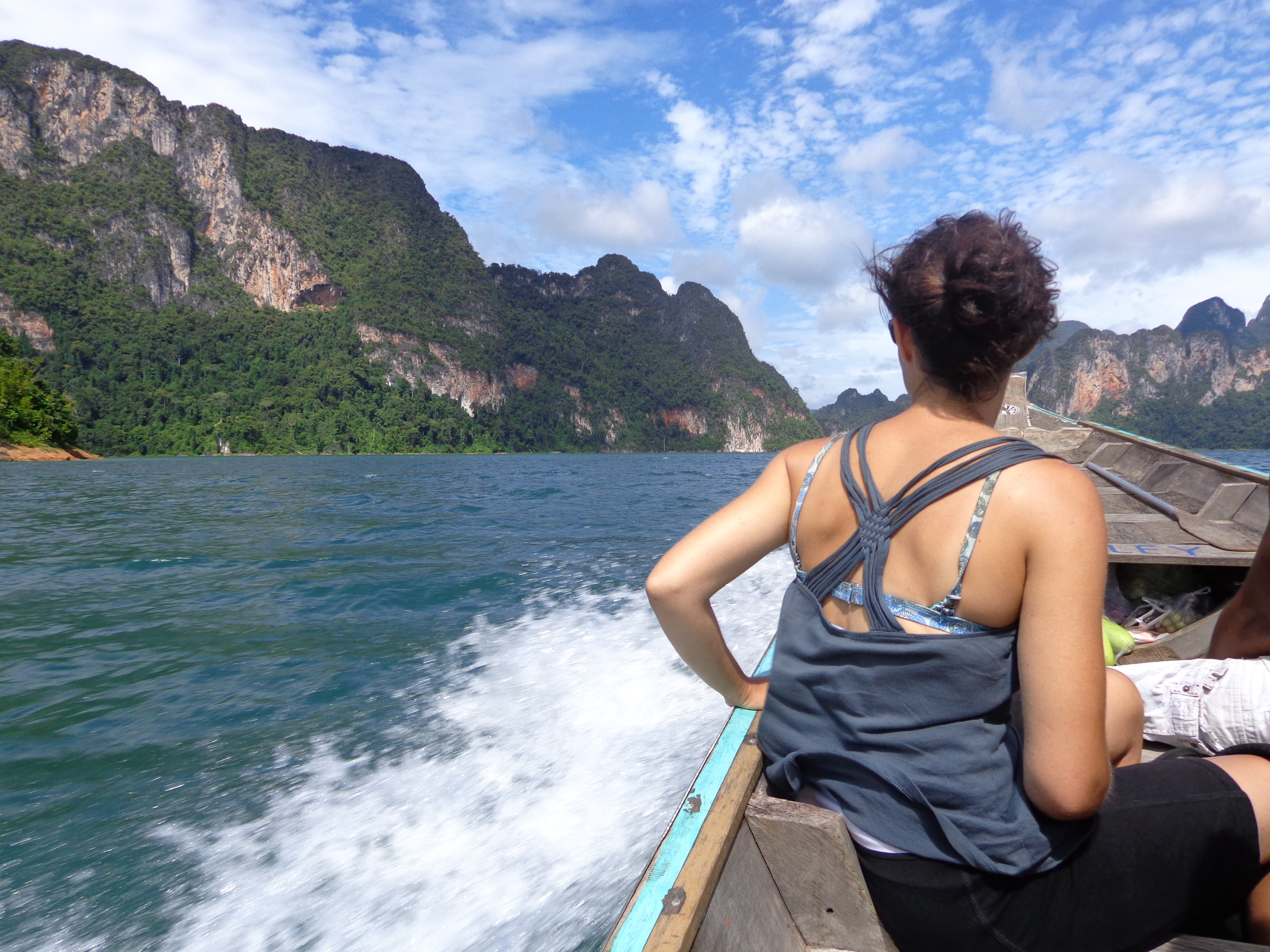 Boating on the lake in Khao Sok National Park