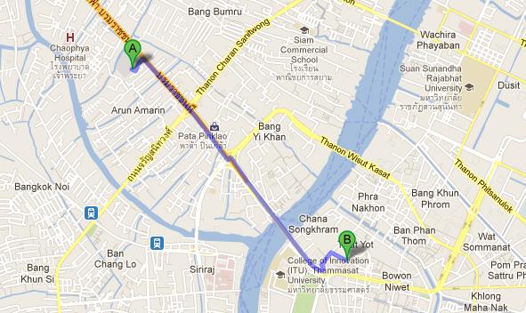 Map of Khao San Road