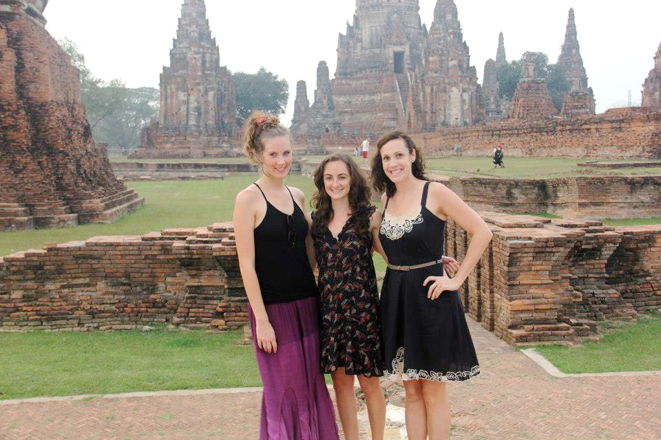 The three of us, exhausted but so so happy in Ayutthaya