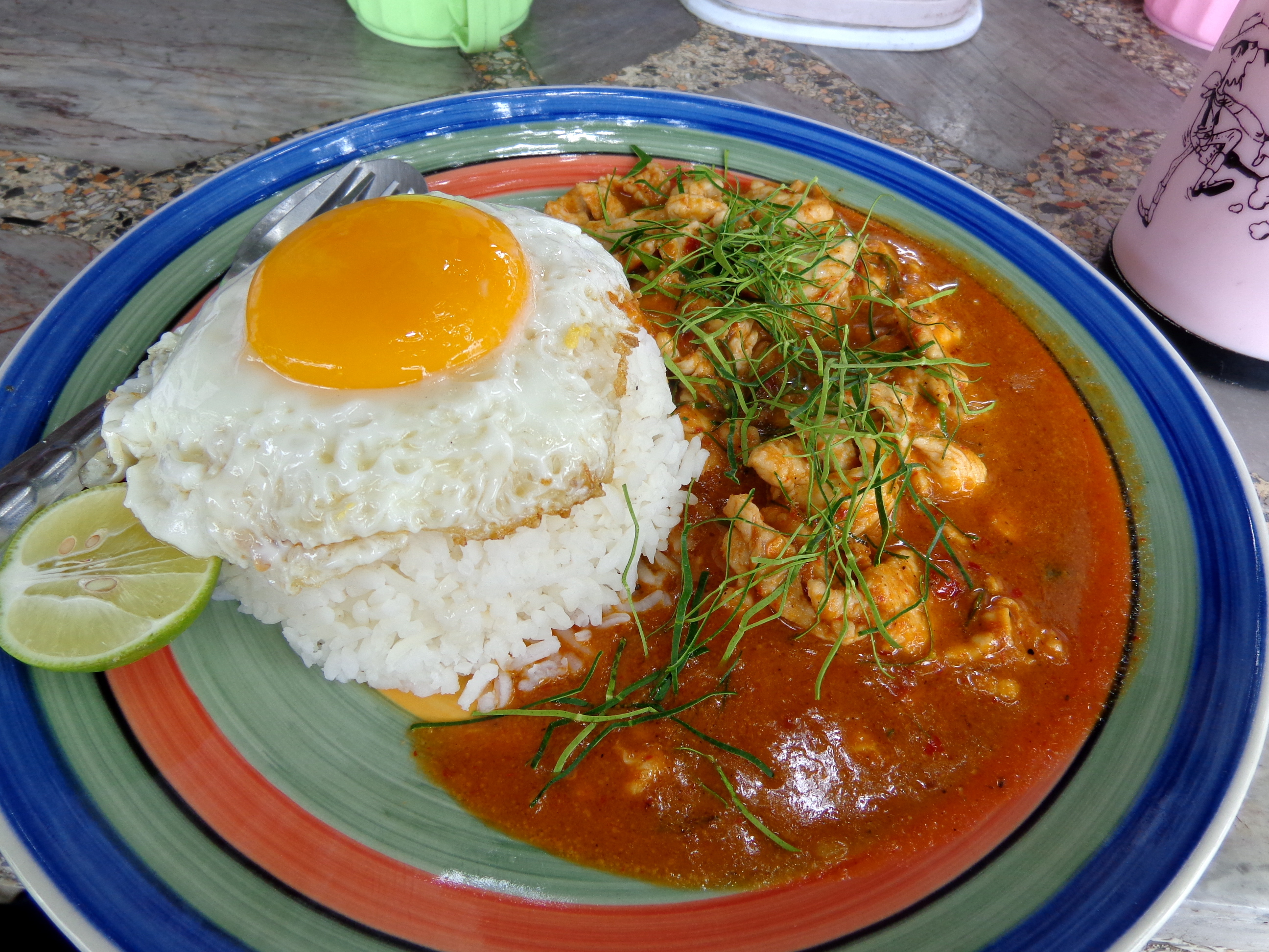 Penang gai (penang curry chicken) in Thailand