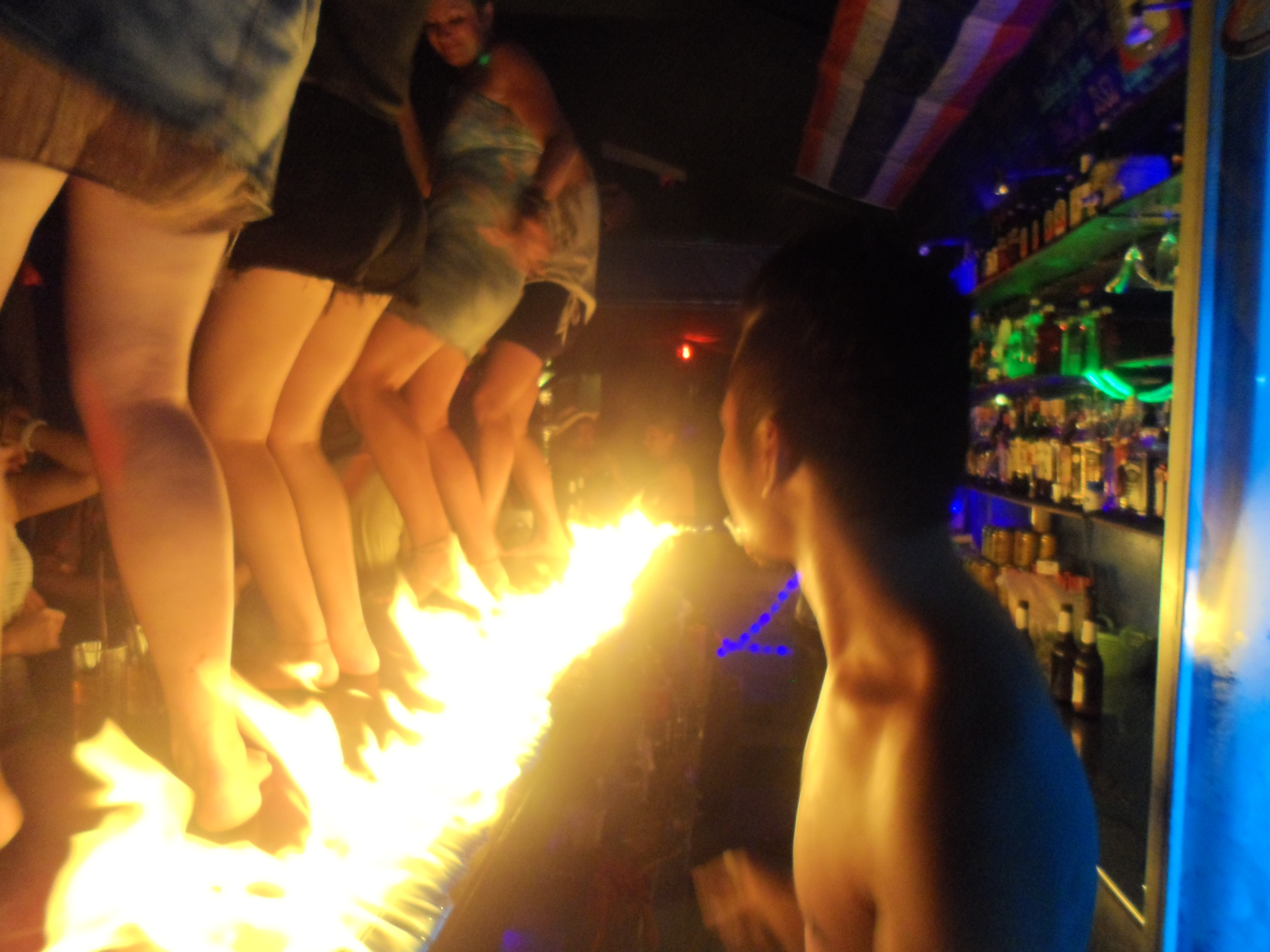 Dancing on bars in Koh Chang