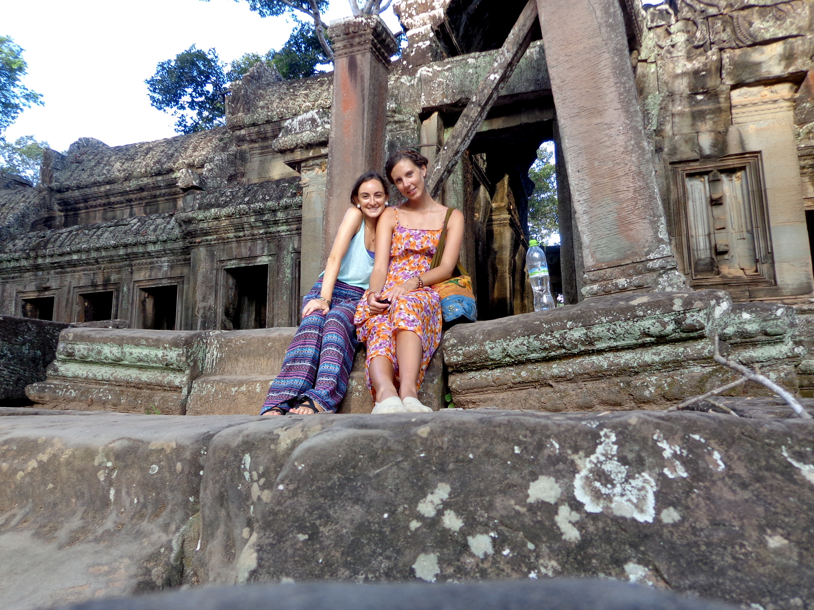 Me and Molly saying goodbye in Cambodia
