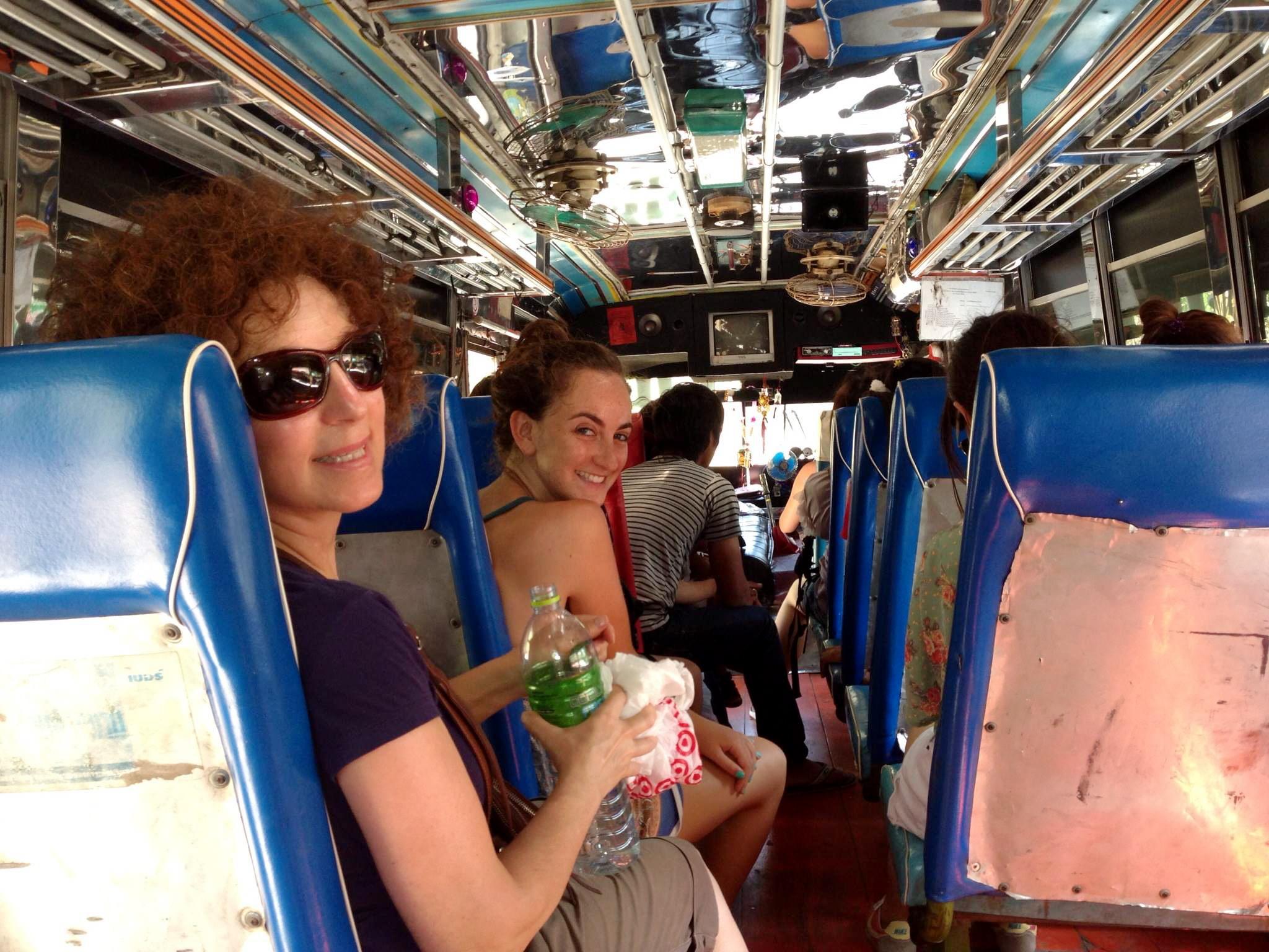 Bus ride with my parents from Kanchanaburi back to Bangkok