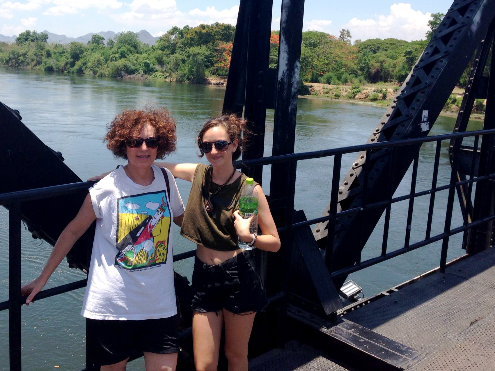 Checking out the Bridge on the River Khwae in Kanchanaburi