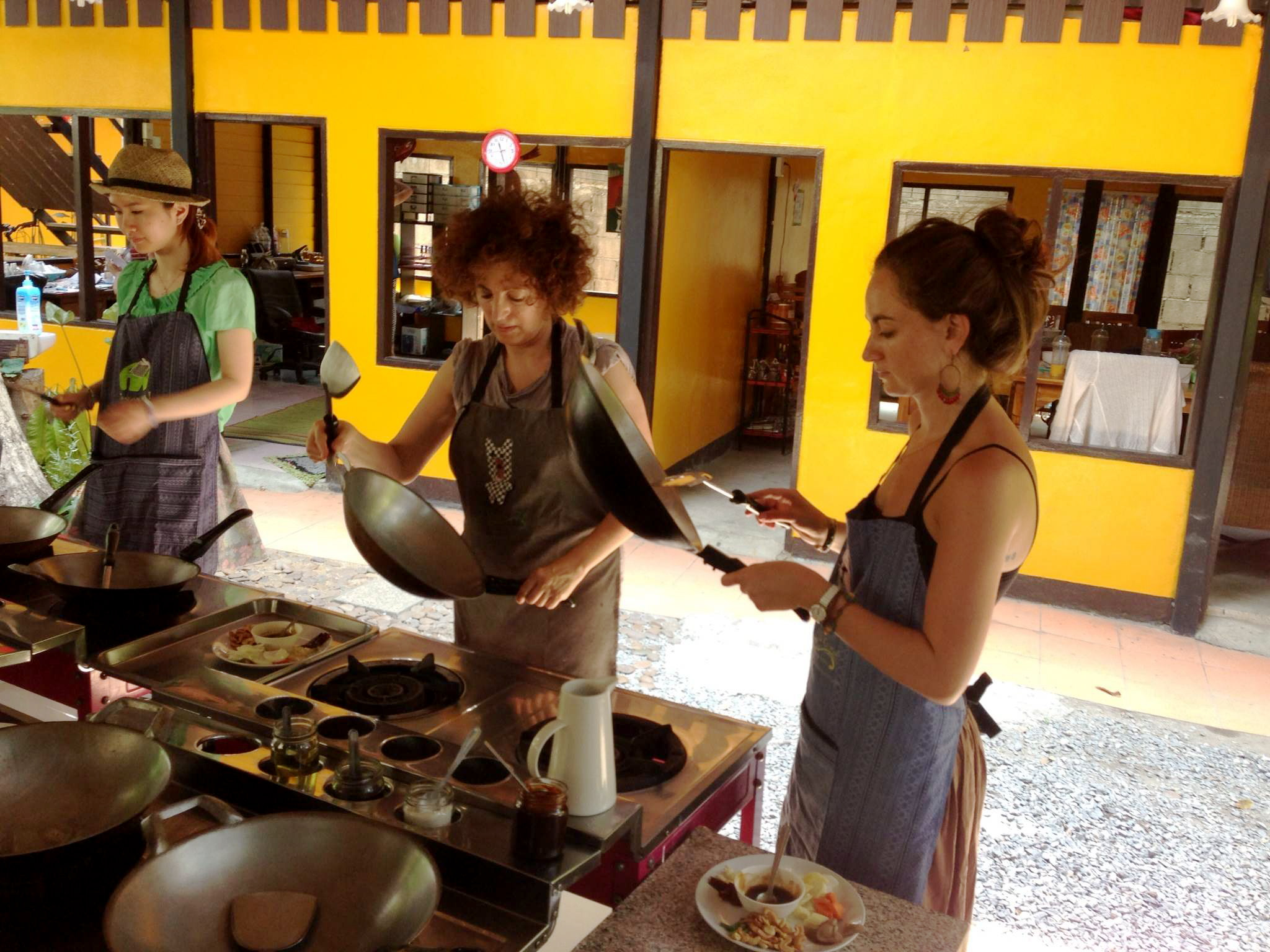 At Thai cooking class in Chiang Mai, Thailand