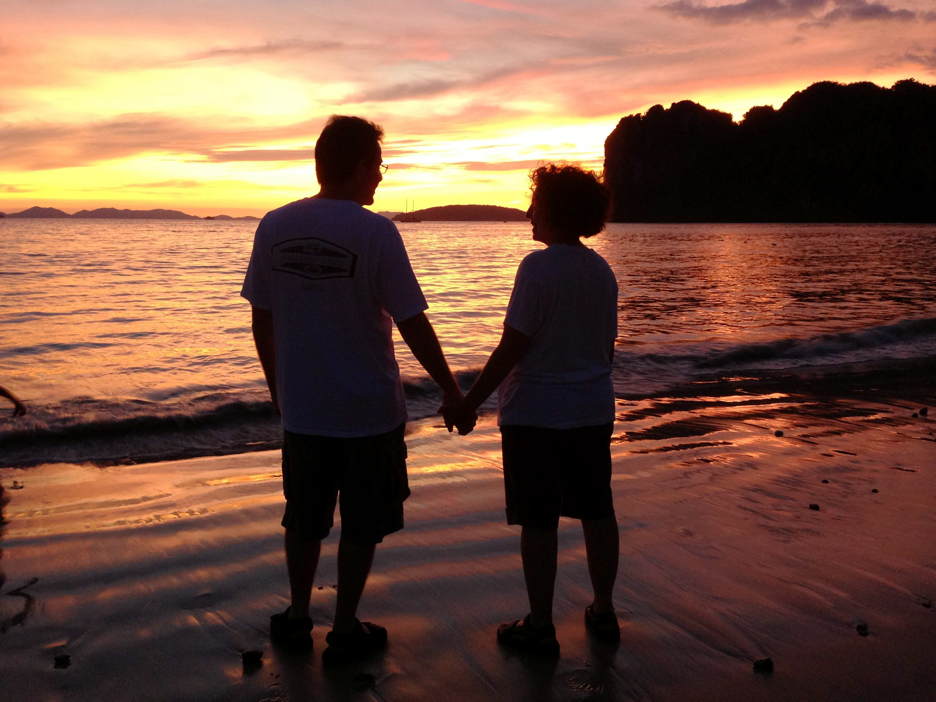 My parents at sunset in Railay