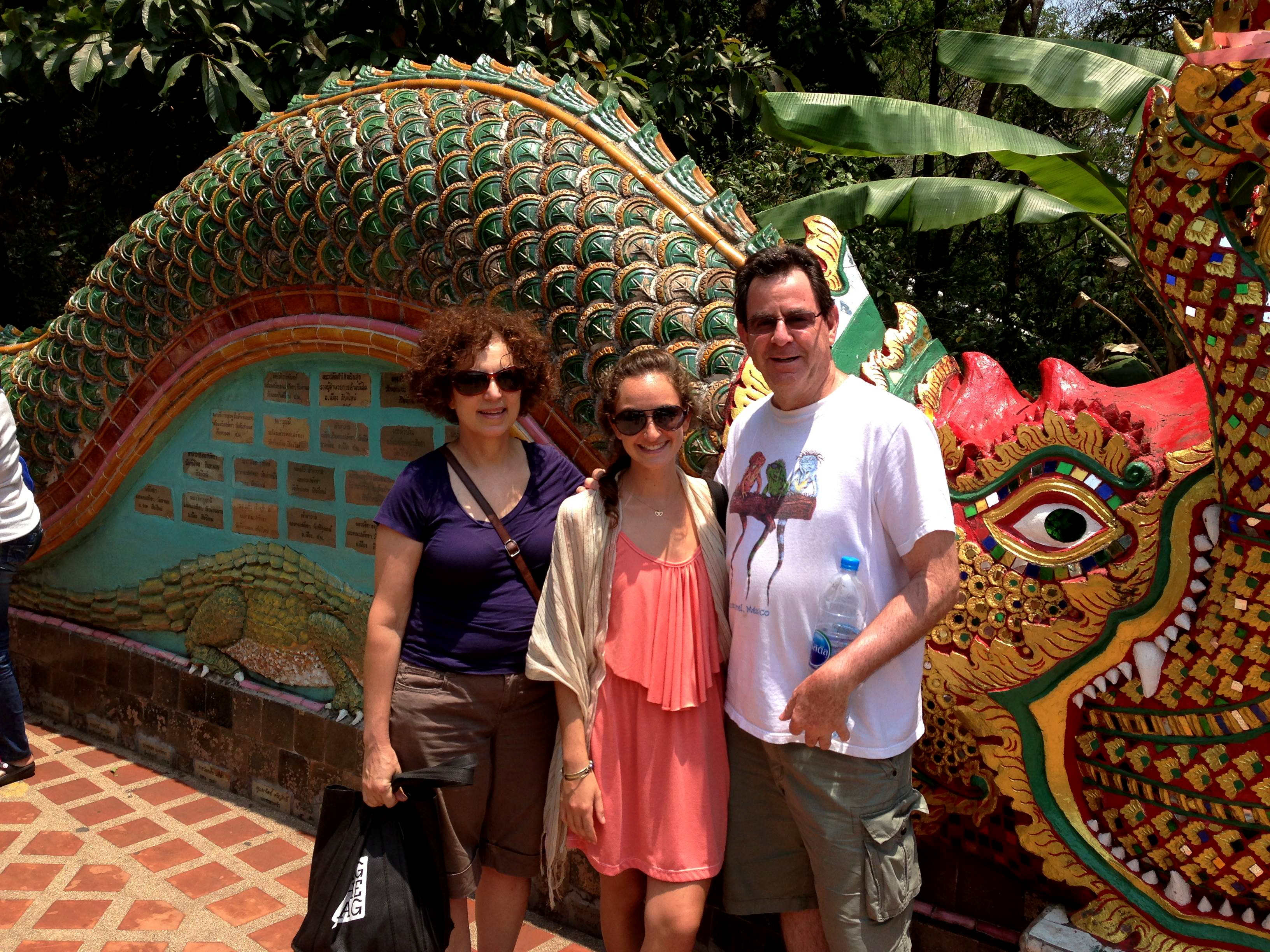 With my parents in Chiang Mai, Thailand