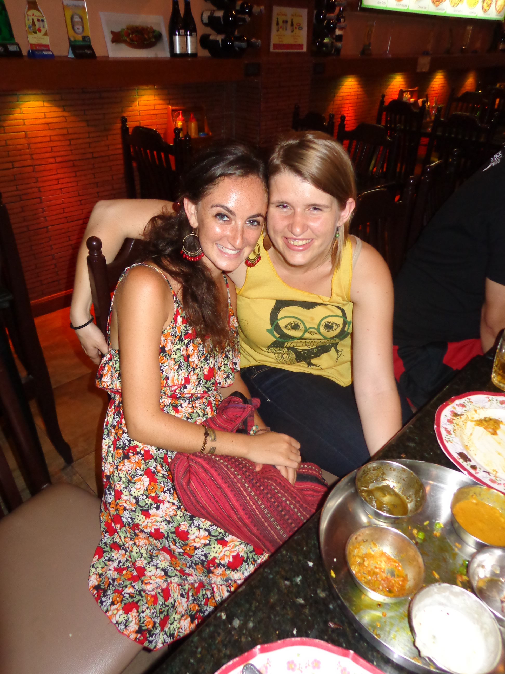 Saying hello AND goodbye to Clothilde at the end of my time in Thailand