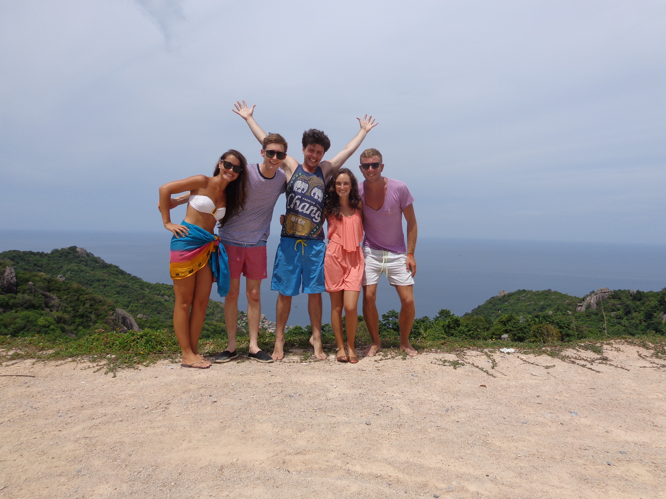 Hanging out with new friends in Koh Tao, Thailand