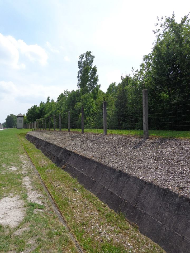 Electric fence in Dachau concentration camp