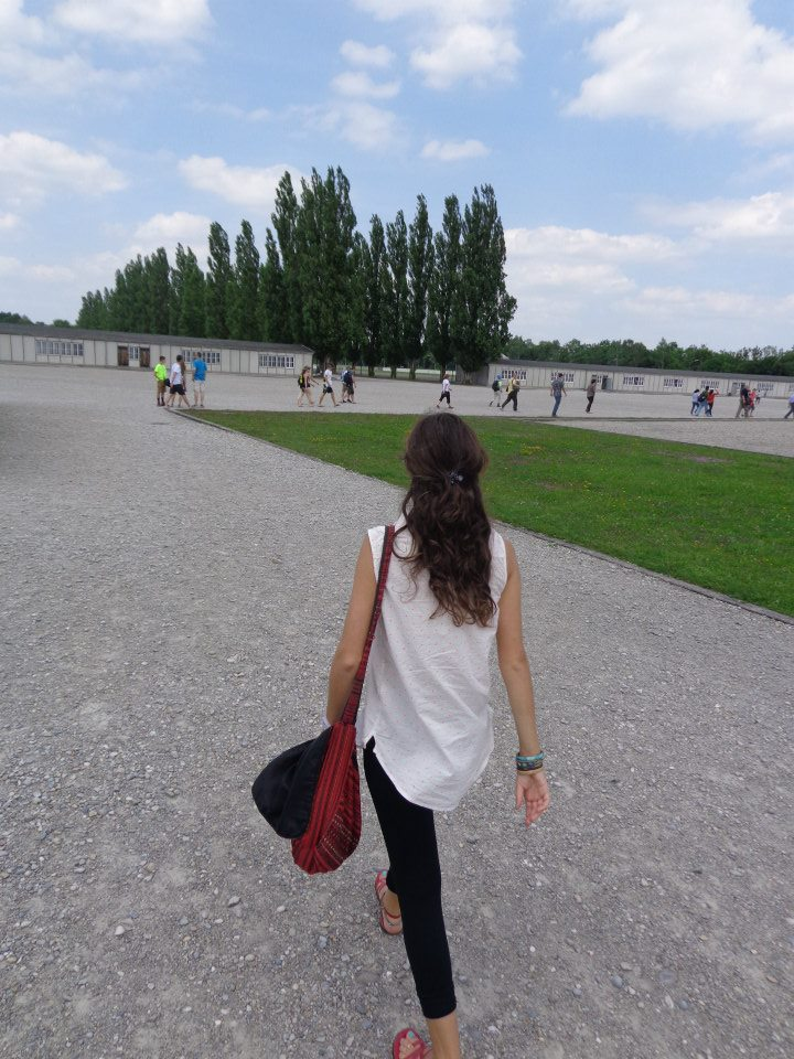Walking through Dachau