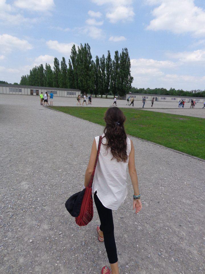 Walking through Dachau
