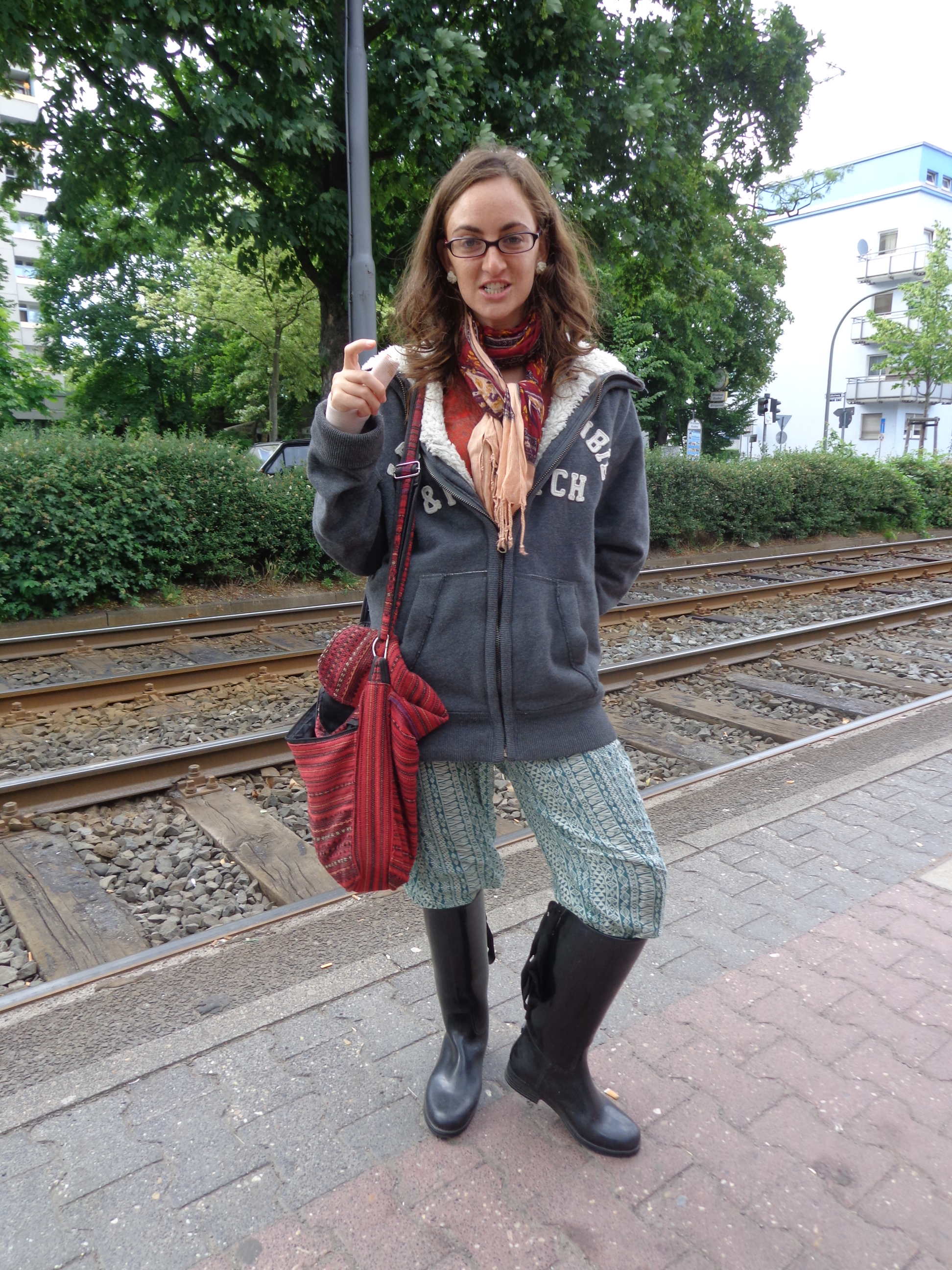 Wearing silly clothes in Germany