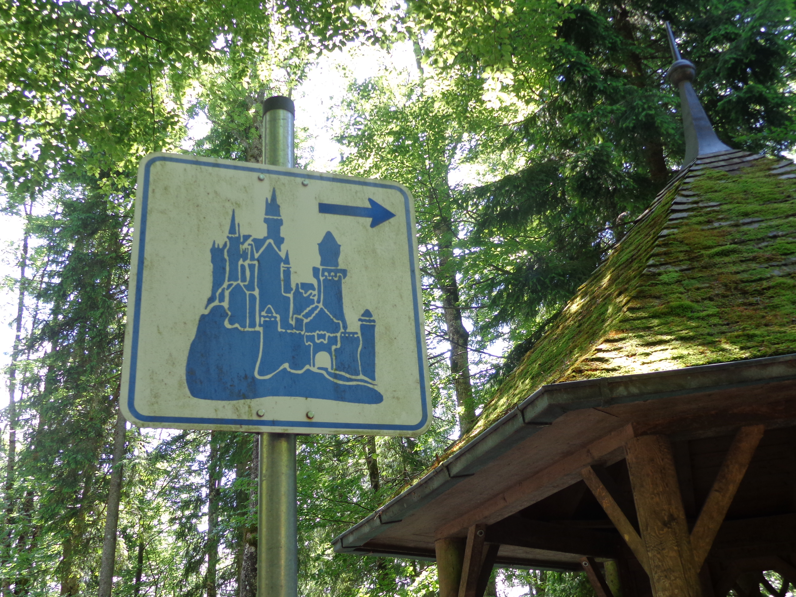 Castle sign in Bavaria, Germany