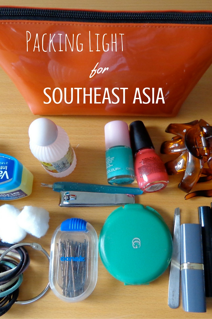 Packing light for Southeast Asia