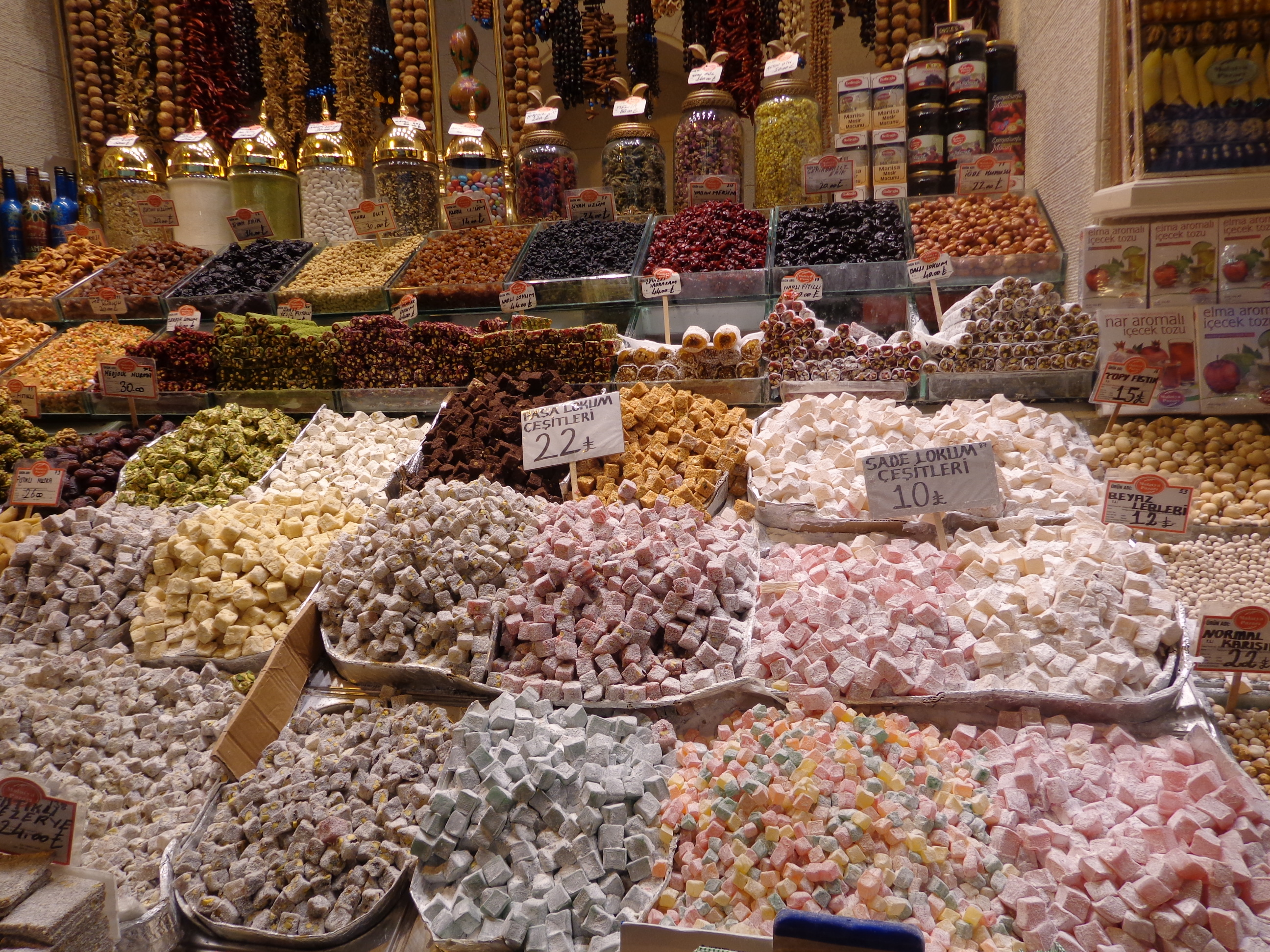 Turkish Delight on sale at the Spice Market.