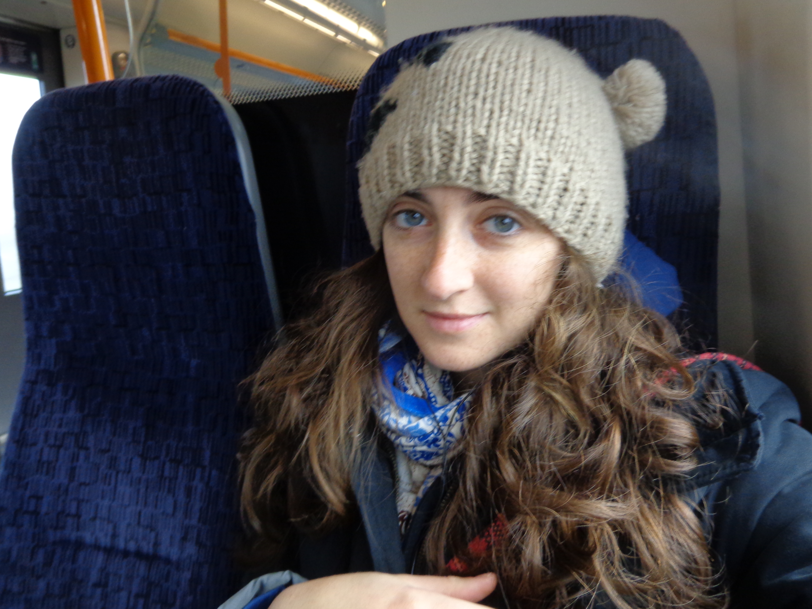 On the train. In England. Cause I live here.