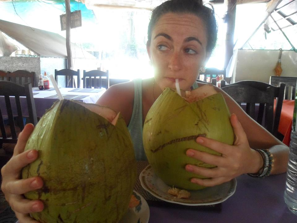 Best advice: drink two coconuts