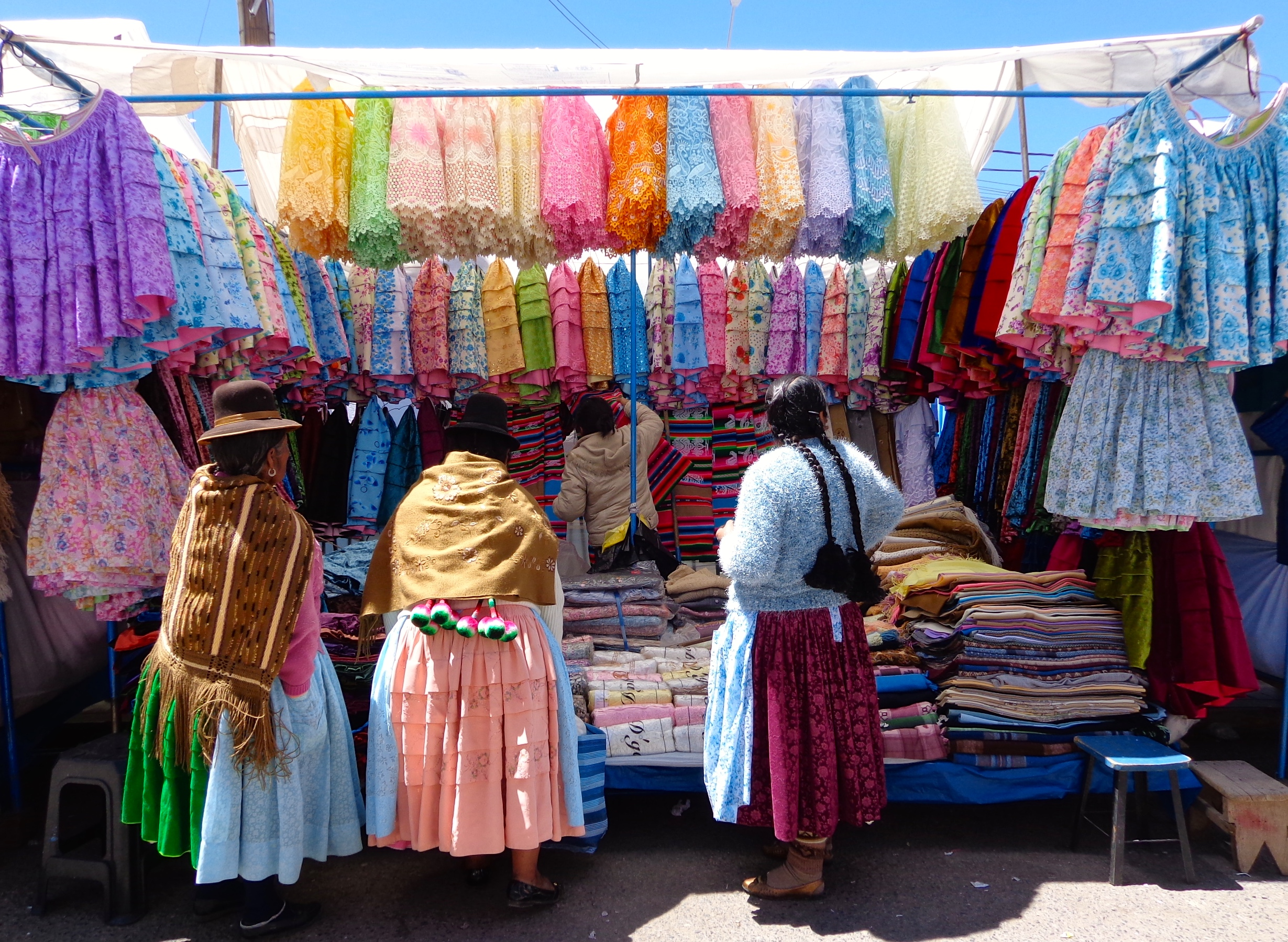 Feria Saturday market in Puno, Peru