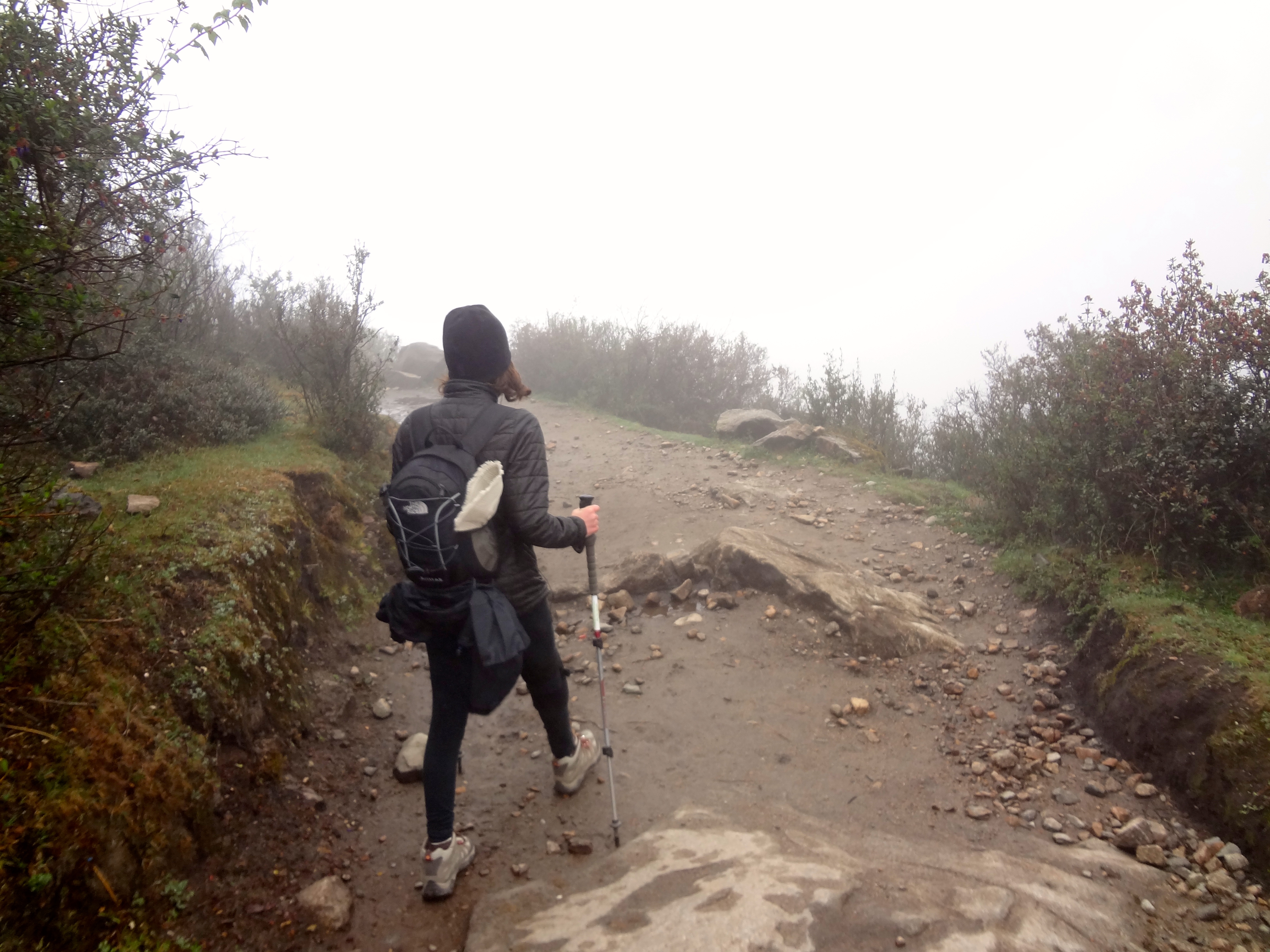 "We walked downhill in the fog and, soon, darkness for 3-4 hours on this particular day. My knees were like ""NOPE."""