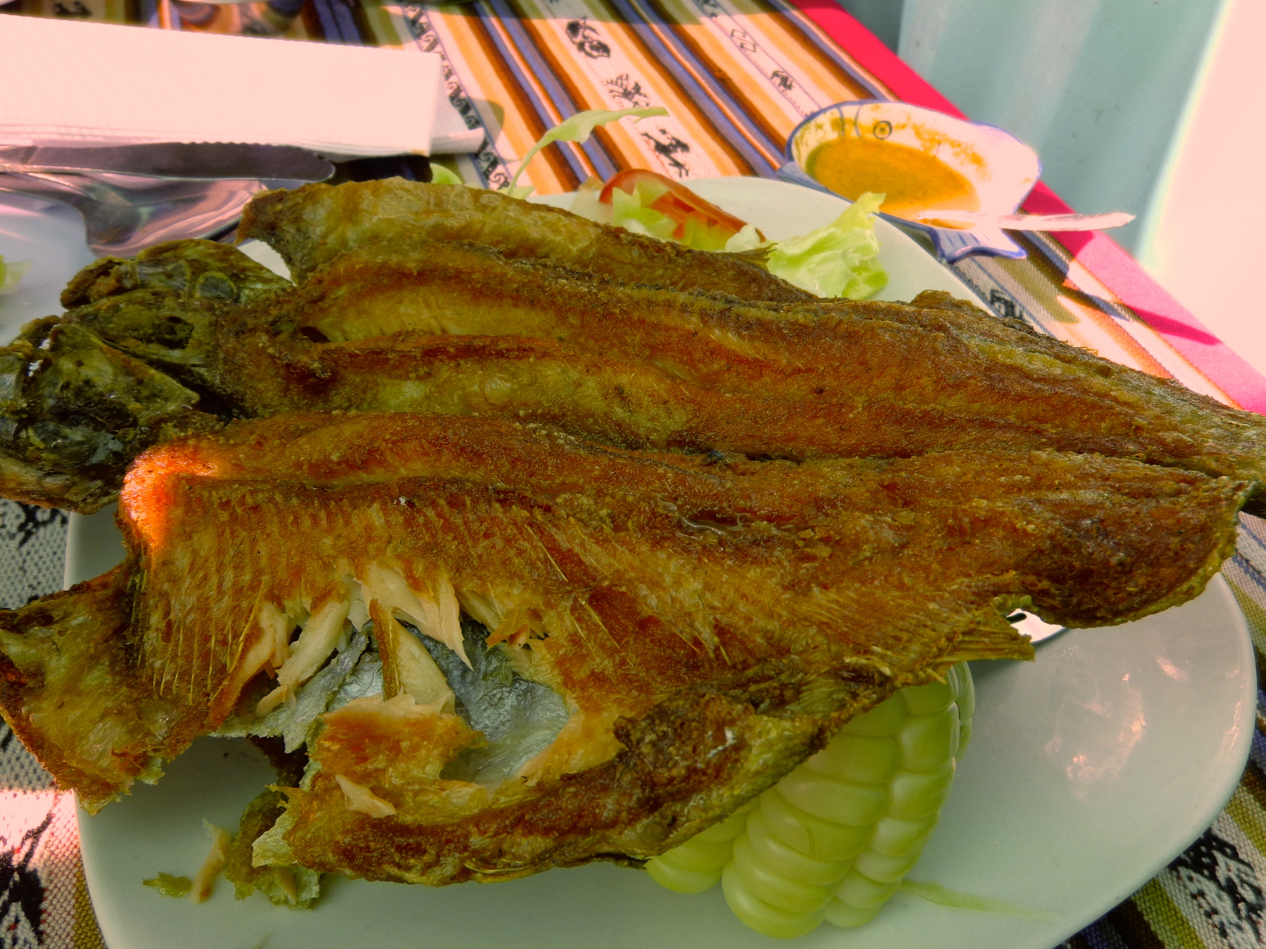 Fried trout in Puno
