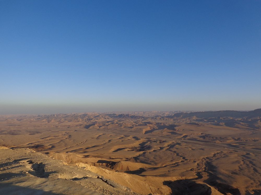 Sunset over makhtesh in Mitzpe Ramon