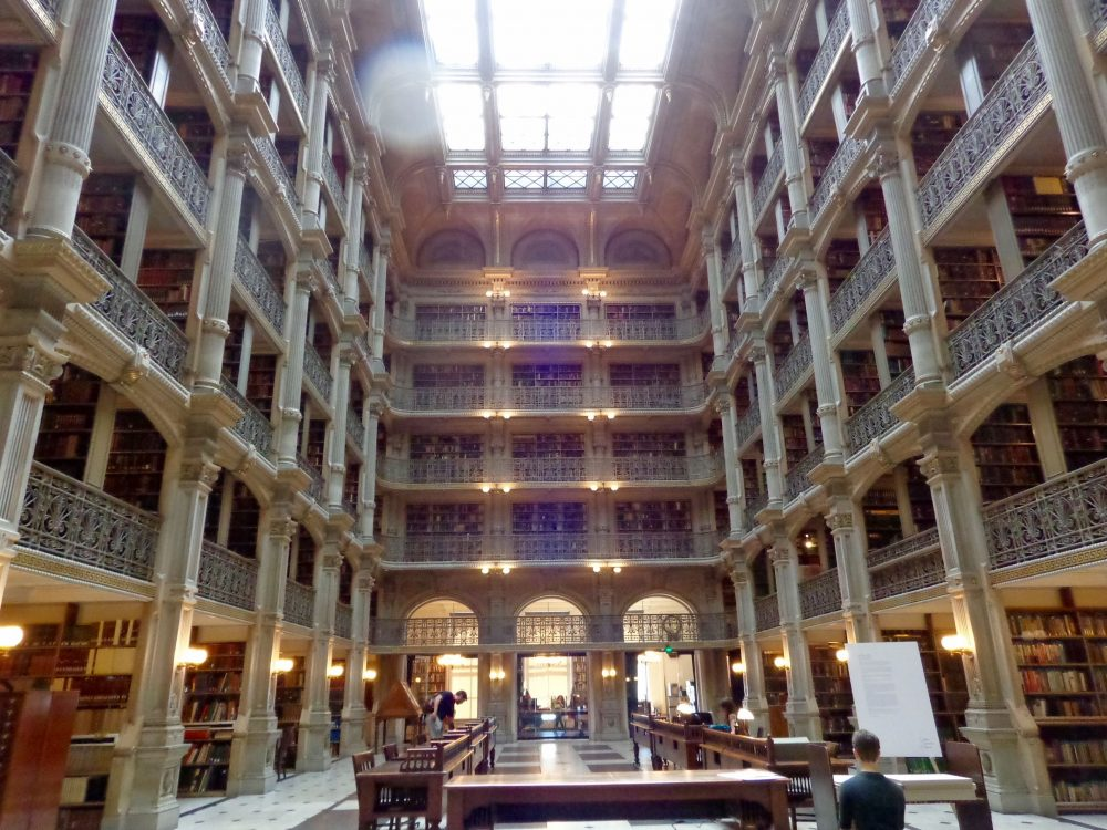 Inside the George Peabody Library in Baltimore