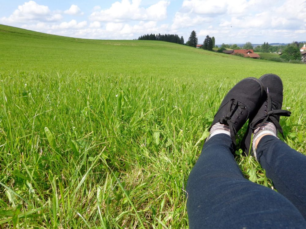 Foot selfie in Bavaria, Germany