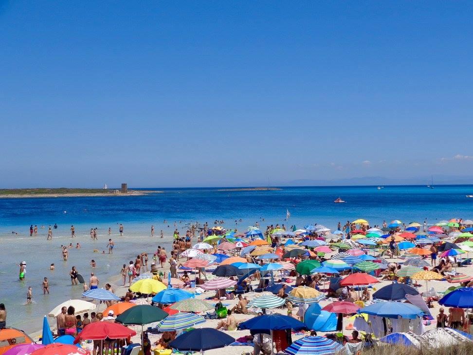 Spiaggia della Pelosa in northwestern Sardinia