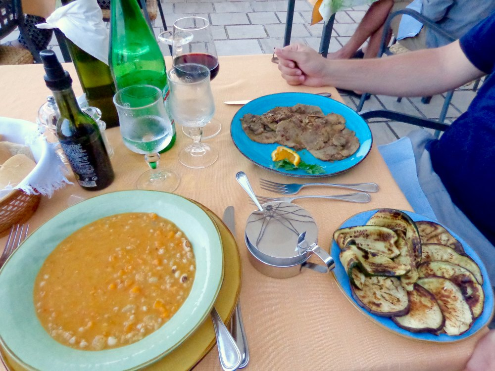 Dinner at Hotel L'oasi in Cala Gonone, Sardinia