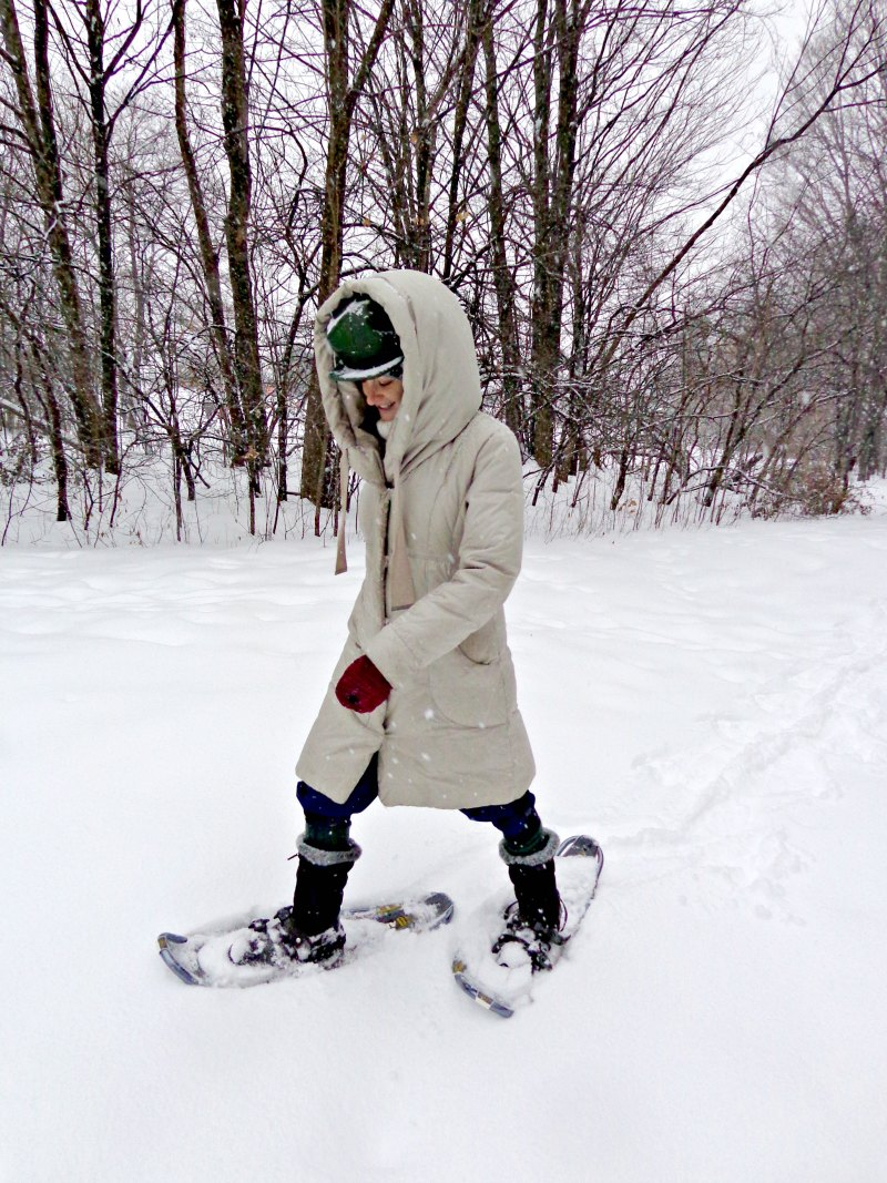 Snowshoeing in Canada in winter