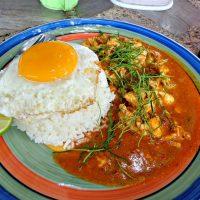 Best streetfood in Thailand: penang chicken