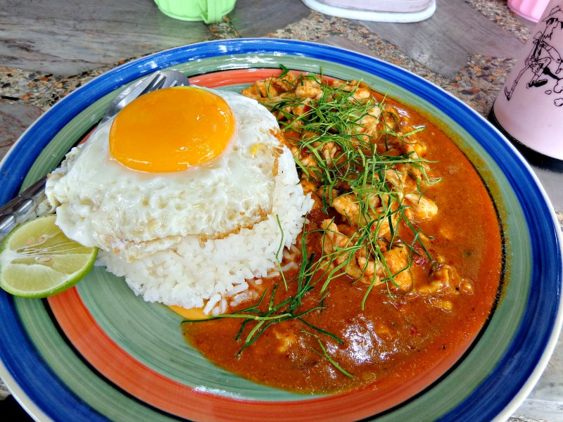 Best streetfood in Thailand: penang chicken