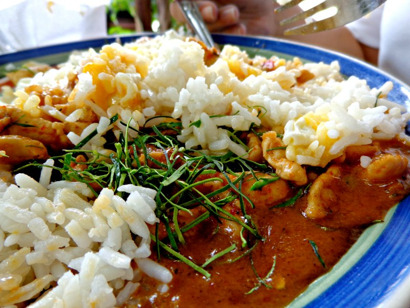 Penang curry chicken in Bangkok