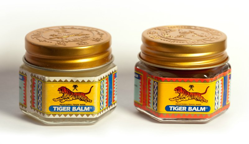 Travel first aid: tiger balm