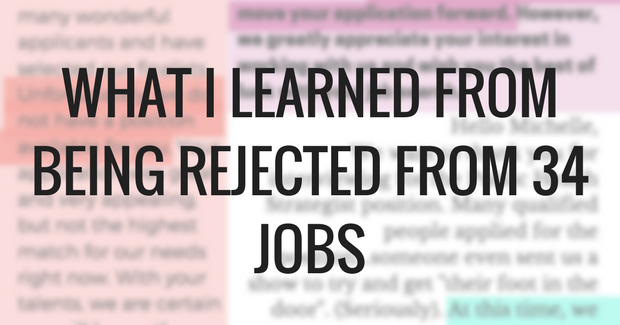 Job rejection lessons