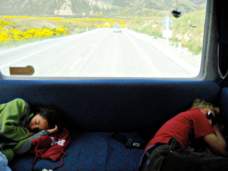 Sleeping on roadtrip in New Zealand
