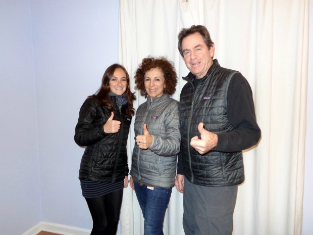 Me and my parents all wearing our Patagonia Nano Puff jackets