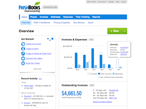 Freshbooks software for freelancers