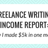 Freelance writing income report: How I made $5k in my fourth month