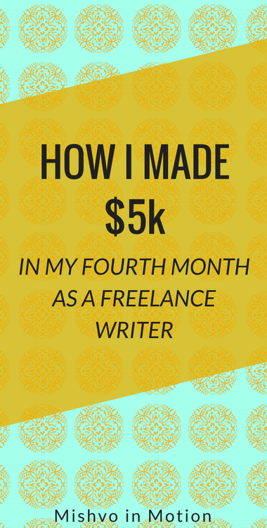 My fourth month of freelancing was amazing: I was able to reach my goal of making $5k in one month! Here's how I did it.