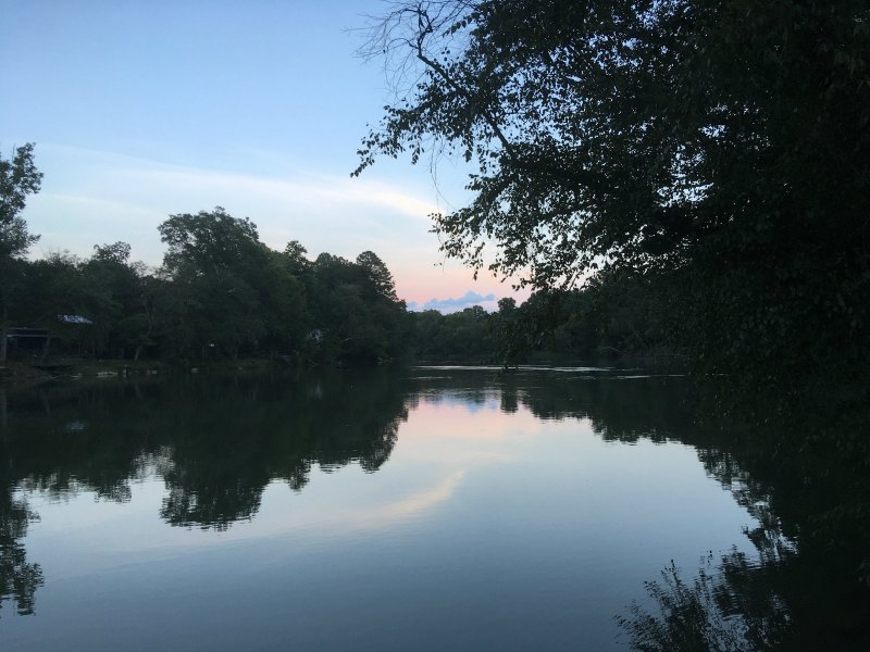 Sunset at the park helps with chronic pain
