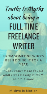 I didn't know if what people were saying about becoming a full time freelance writer was true or not. Now I do and I want to share it with you so you know what to expect - beyond all the hype.