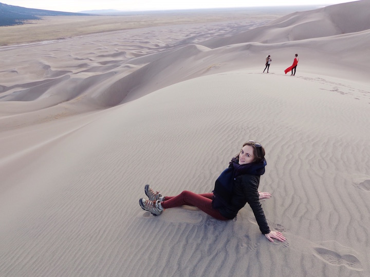 Photoshoot at the top of the Great Sand Dunes National Park